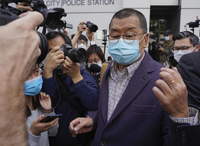 Jimmy Lai subito dopo il rilascio