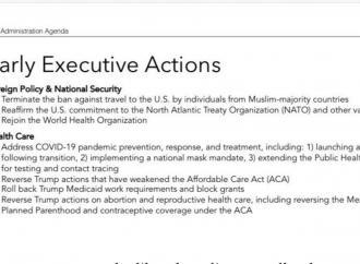 """Esce l'agenda del """"paciere"""" Biden: priorità all'aborto"""