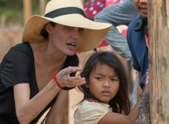 Angelina Jolie sul set
