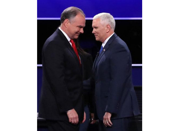 Tim Kaine e Mike Pence
