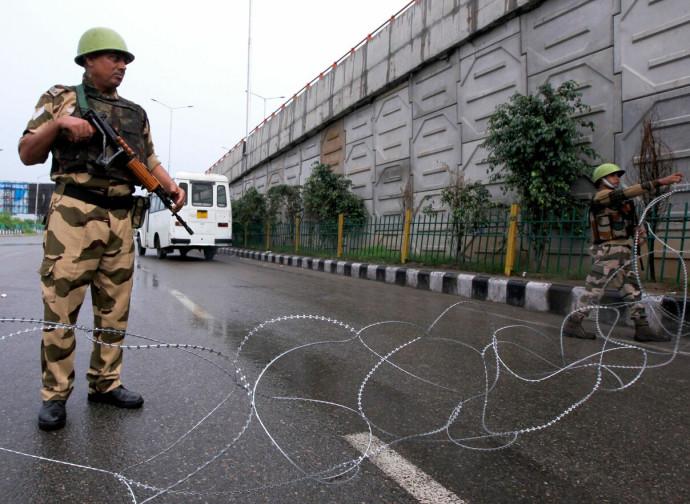 Posto di blocco in Kashmir