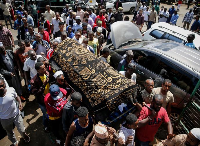I funerali a Nairobi di Yassin Hussein Moyo