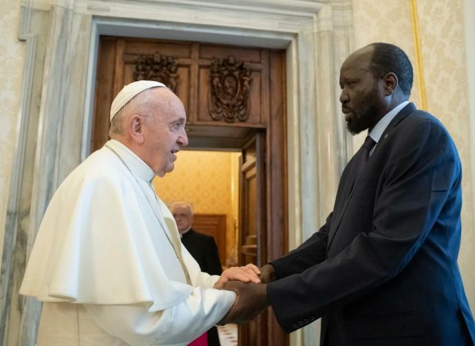 Papa Francesco e Salva Kiir