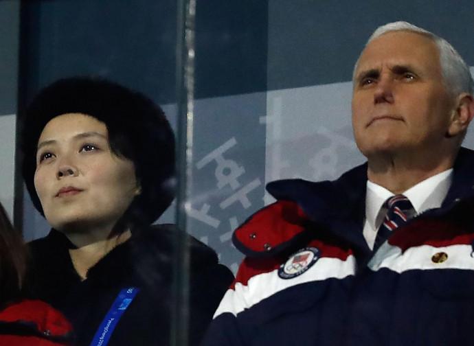 Kim Yo Jong e Mike Pence
