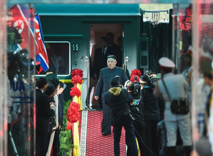 L'arrivo di Kim Jong-un in Vietnam
