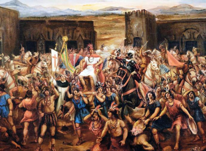 Battaglia di Cajamarca, fra spagnoli e aztechi
