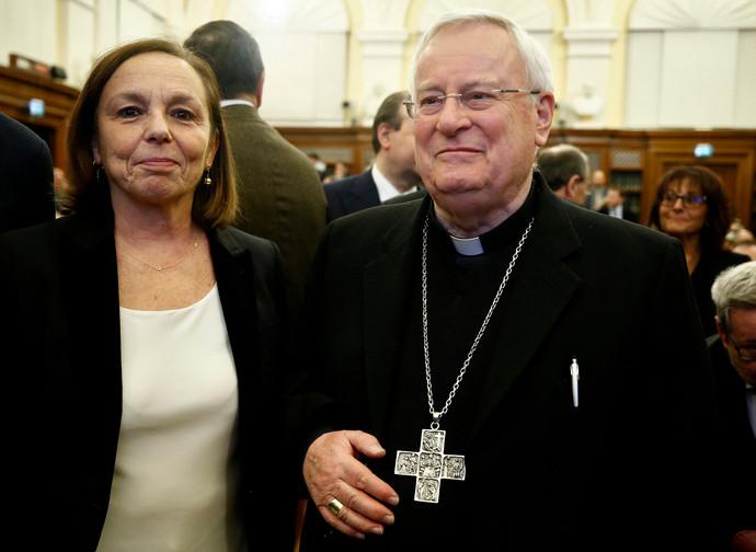 Il ministro Lamorgese con il cardinale Bassetti