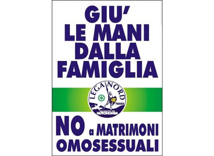 Poster pro famiglia naturale della Lega