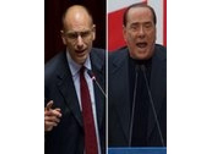 Enrico Letta e Silvio Berlusconi