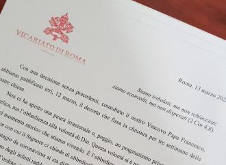 «Le chiese a Roma riaprono». Papa e cardinale vicario, accuse reciproche
