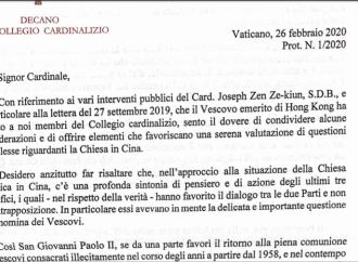 Il Vaticano dichiara guerra al cardinale Zen