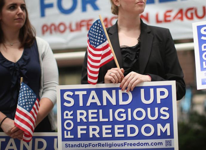 Manifestazione per la libertà di religione
