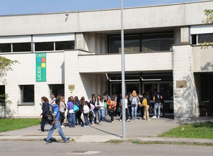 Entrata in un liceo pubblico