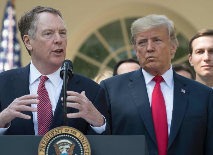 Lighthizer, capo negoziatore Usa, illustra l'Usmca con Trump