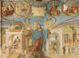 Cristo-vite, il trionfo della Fede nell'affresco di Lotto