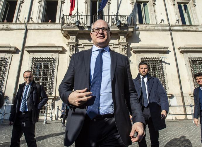 Il ministro dell'Economia Gualtieri