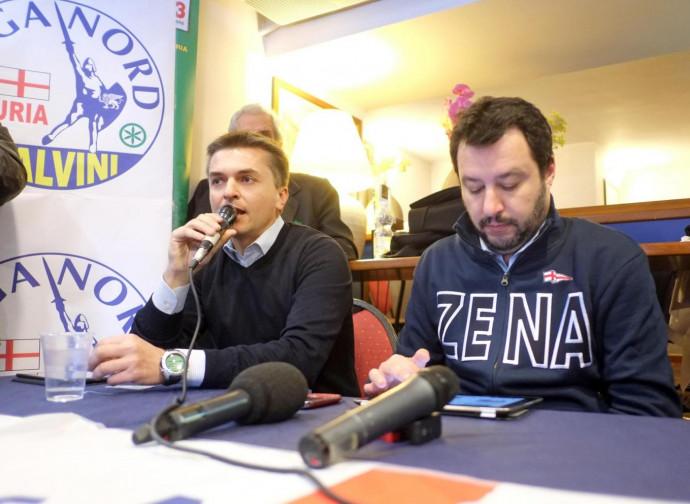 Salvini con il viceministro Rixi