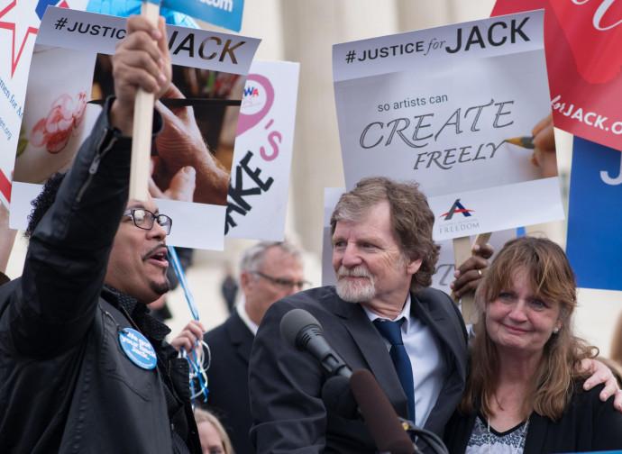 Jack Philips in una delle manifestazione a suo sostegno negli Usa