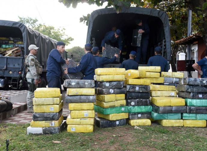 Un sequestro di droga in Paraguay