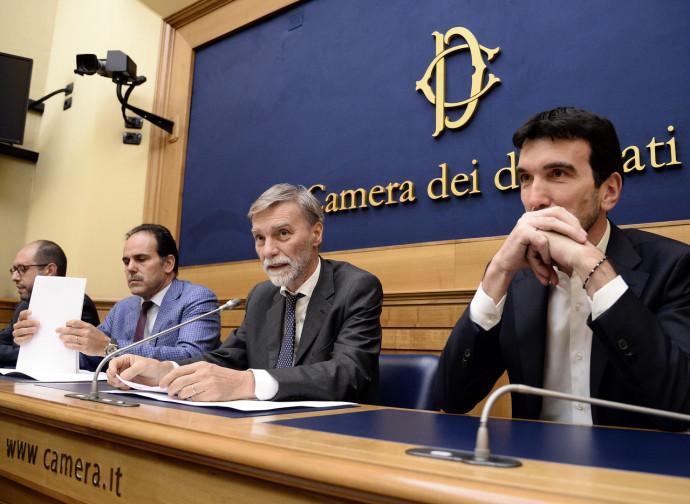 Graziano Delrio e il gruppo parlamentare Pd