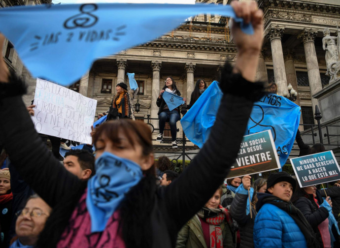 Manifestanti pro vida in Argentina