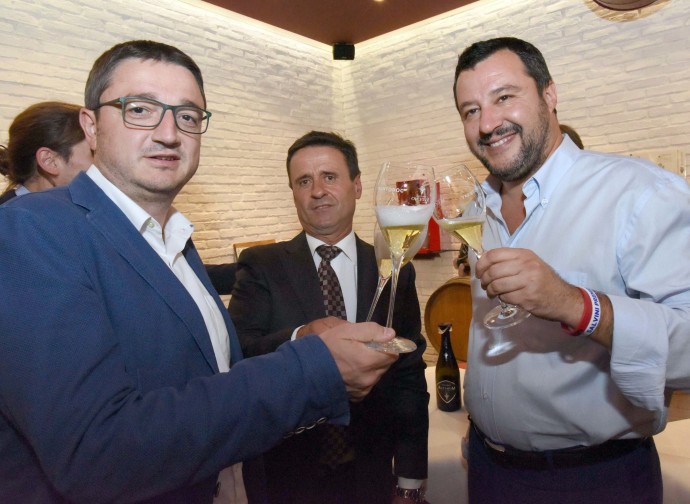 Salvini col neo governatore del Trentino