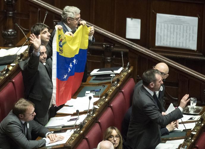 Parlamentari di Fratelli d'Italia in Parlamento per il Venezuela