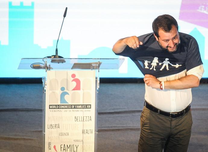 Matteo Salvini al Congresso di Verona