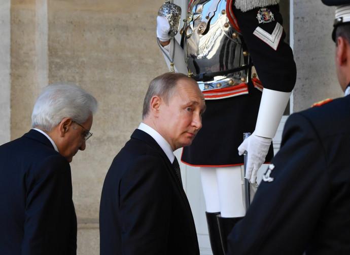 Putin ieri a Roma con il presidente Mattarella