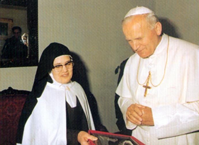 Suor Lucia e Giovanni Paolo II