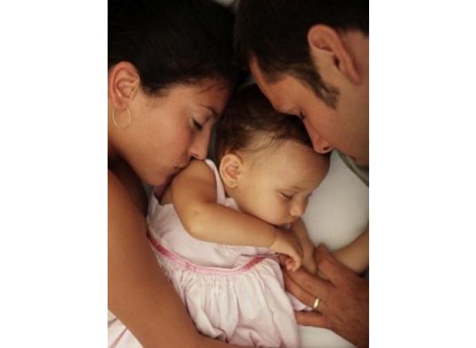 Mamma e papà e bambino