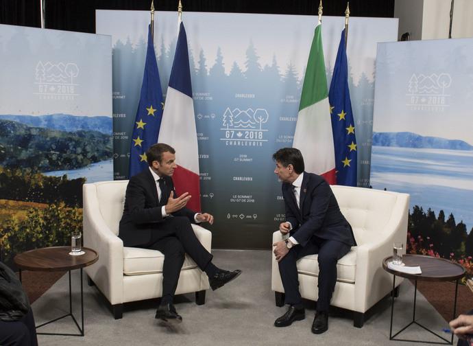Macron e Conte