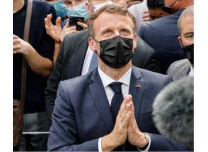 Il presidente Macron a Lourdes