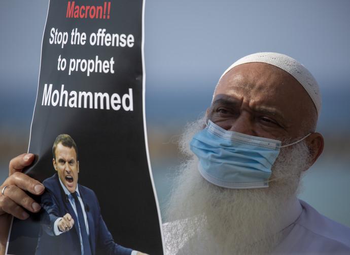 La protesta islamica contro Macron