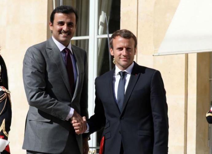 L'emiro Al Thani con Macron