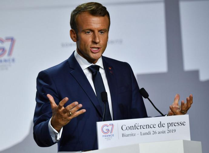 Macron al G7 di Biarritz