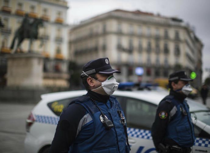 Polizia a Madrid