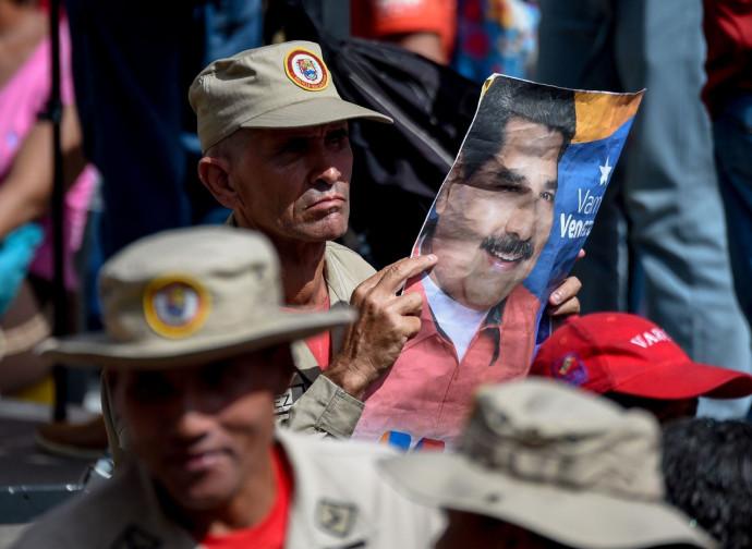 Caracas, manifestazione pro Maduro