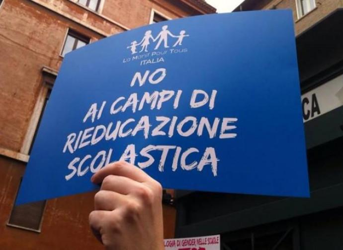 La Manif in Italia contro il gender nelle scuole