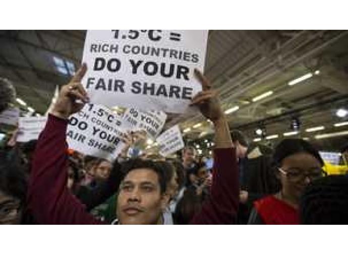 Manifestazione alla COP21 di Parigi