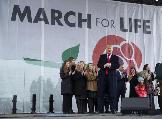 Trump alla Marcia per la Vita