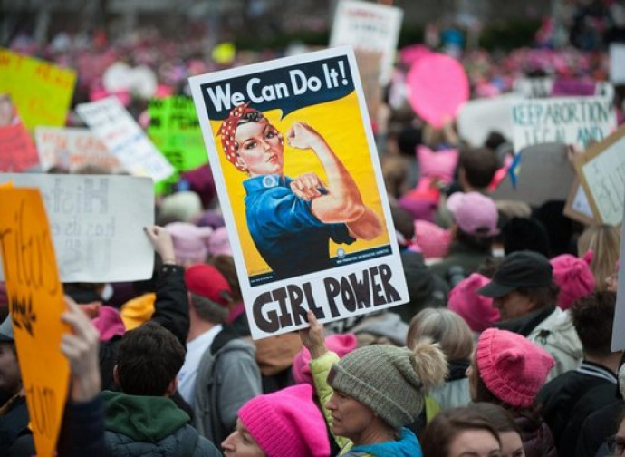 La marcia delle donne a Washington