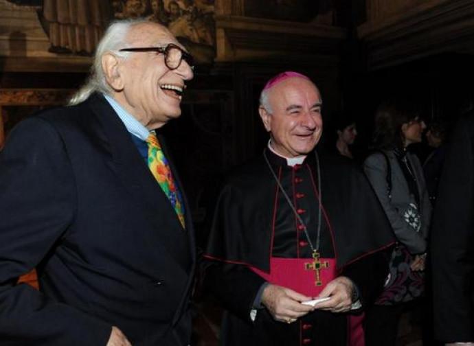 Monsignor Paglia con Marco Pannella
