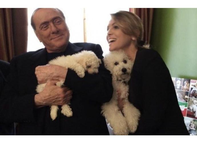 Silvio Berlusconi con Francesca Pascale