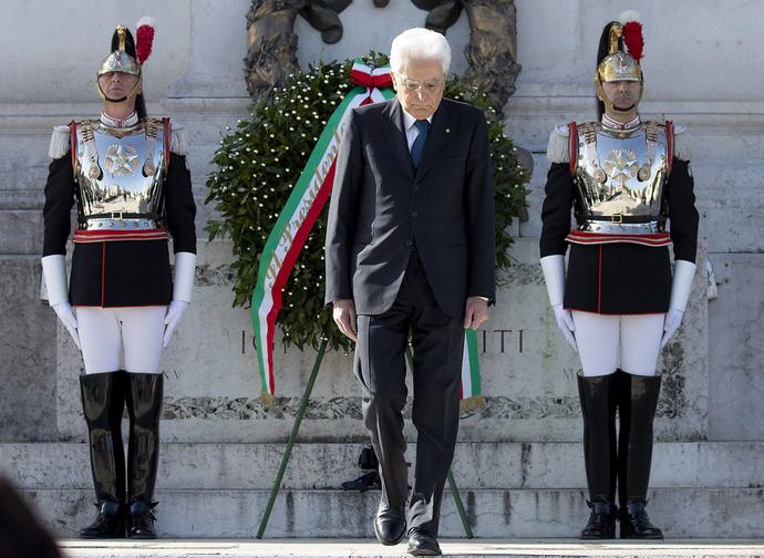 Il presidente Mattarella alle celebrazioni del 25 aprile
