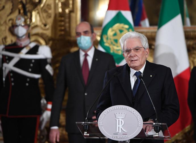 Il presidente della Repubblica Mattarella