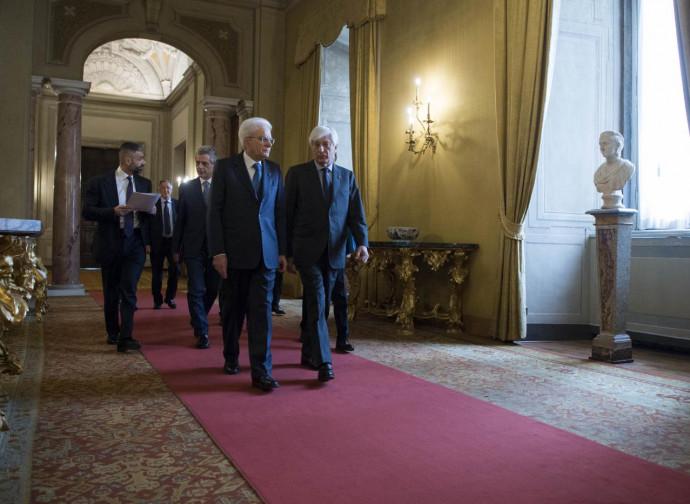 Il presidente Mattarella al Quirinale
