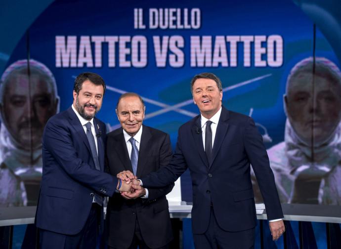 Salvini e Renzi ospiti di Vespa