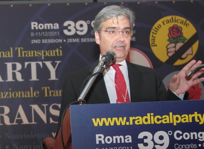 Il segretario dei Radicali Maurizio Turco