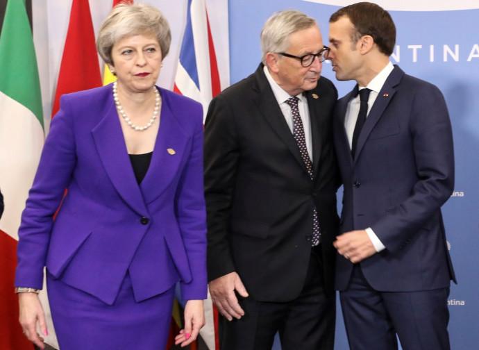 La May, Juncker e Macron